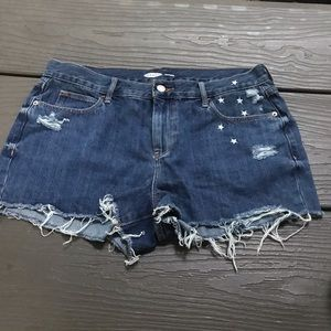 🌟Old Navy ripped star jeans shorts, 10